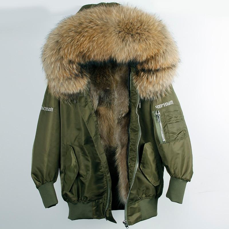 Натуральный мех енота Лайнер Женский Зимняя Куртка парка с вышивкой с надписями Бесплатная из натурального меха енота пальто