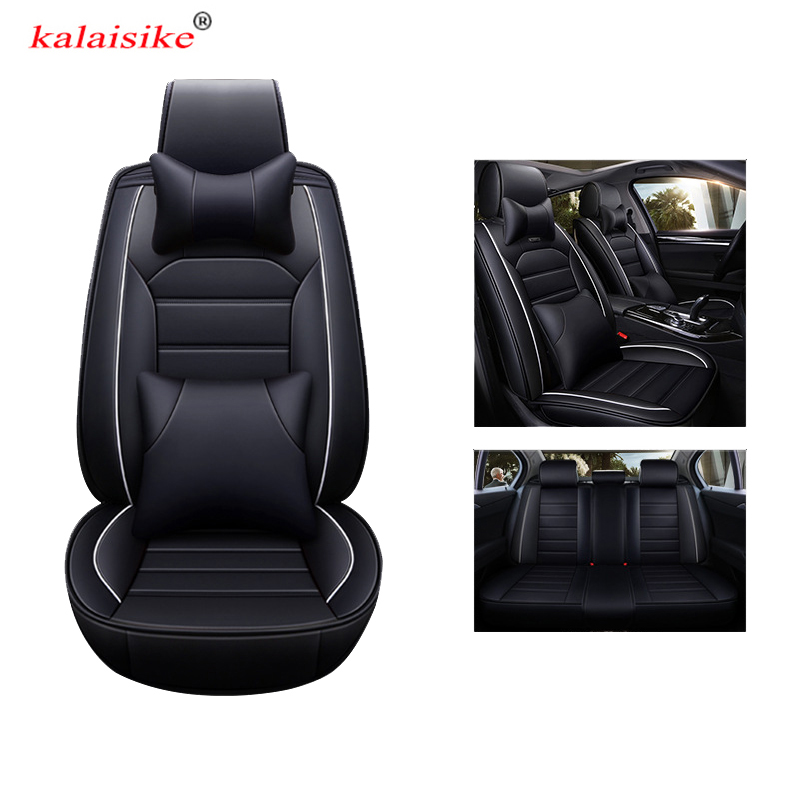 kalaisike leather universal auto seat covers for Skoda all model rapid superb yeti kodiaq octavia fabia auto styling accessories