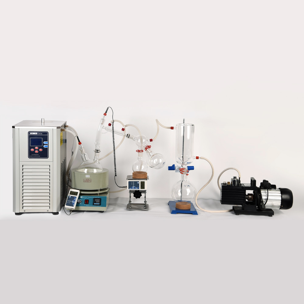 Lab Scale Small Short Path Distillation Equipment 5L Short Path Distillation Contains Cryogenic And Vacuum Pumps path