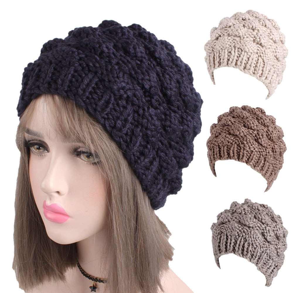 Women Winter Beanie Hat Faux Fur Knitted Hat Mid-aged Female Skullies & Beanies Turban Brim Hats for Women 2017 autumn and winter womens beanie brand knitted hat turban butterfly diamond skullies cap ladies lnit hats for women beanies