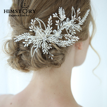 Charming Crystal Wedding Hair Clip Accessories Beaded Wired Flower Girls Women Headpiece Handmade Bridal Party Hair Jewelry floral hairwear for bride tiny beaded pearl flower wedding hair jewelry accessories handmade wired bridal headpiece