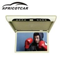 APRICOTCAR 19 автомобиль мониторы автомобиля потолок Флип Топ крепление мониторы накладные флип Экран fm передатчик HD автомобиля Дисплей MP5 высок