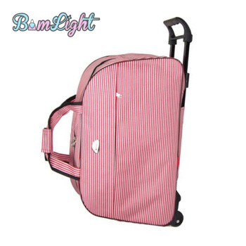 Bomlight Fashion Waterproof Luggage Bag Rolling Suitcase With Wheels 1