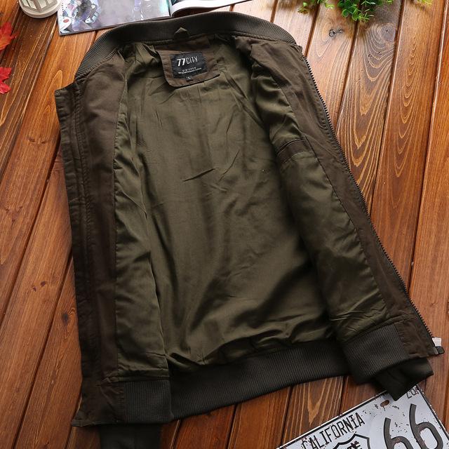 Military Jacket Men Spring Autumn Mens Coat Casual Warm Bomber Jacket Men Cotton Baseball Uniform Jacket Zipper Coat Autumn