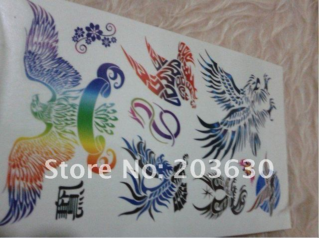 tattoo stickers eagle pattern body sticker with good quality 280-20 1 book/ 4 pages free shipping