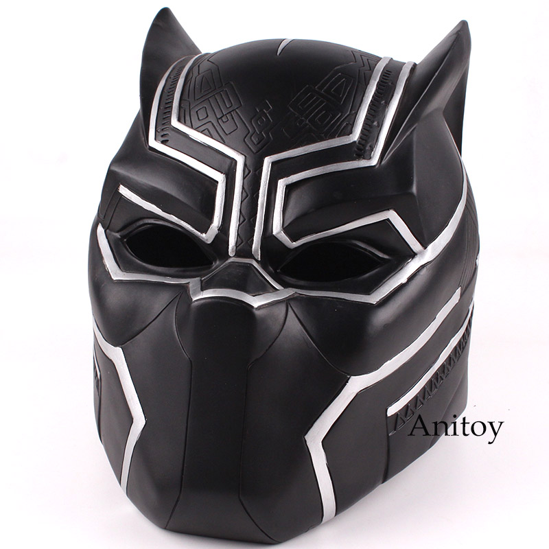 Marvel Super Hero Black Panther 2018 Movie Adult Costume Cosplay Helmet Halloween Party Supplies Cosplay Mask PVC Figure Toy 2pcs lot harry potter series death eater mask halloween horror malfoy lucius resin masks toy private party cosplay toys gift