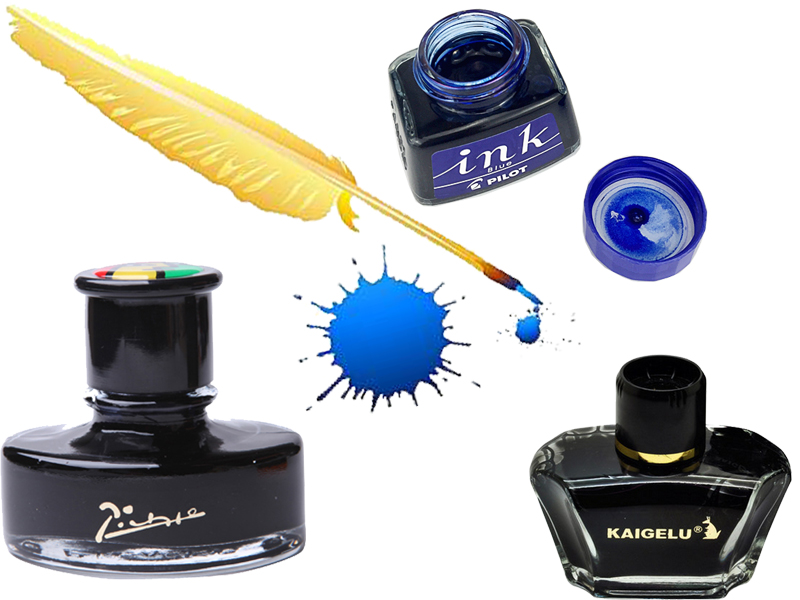 Pen ink bottle or  Ink  Cartridges or Ink refills 4 colors to choose office and school stationery   FREE SHIPPING