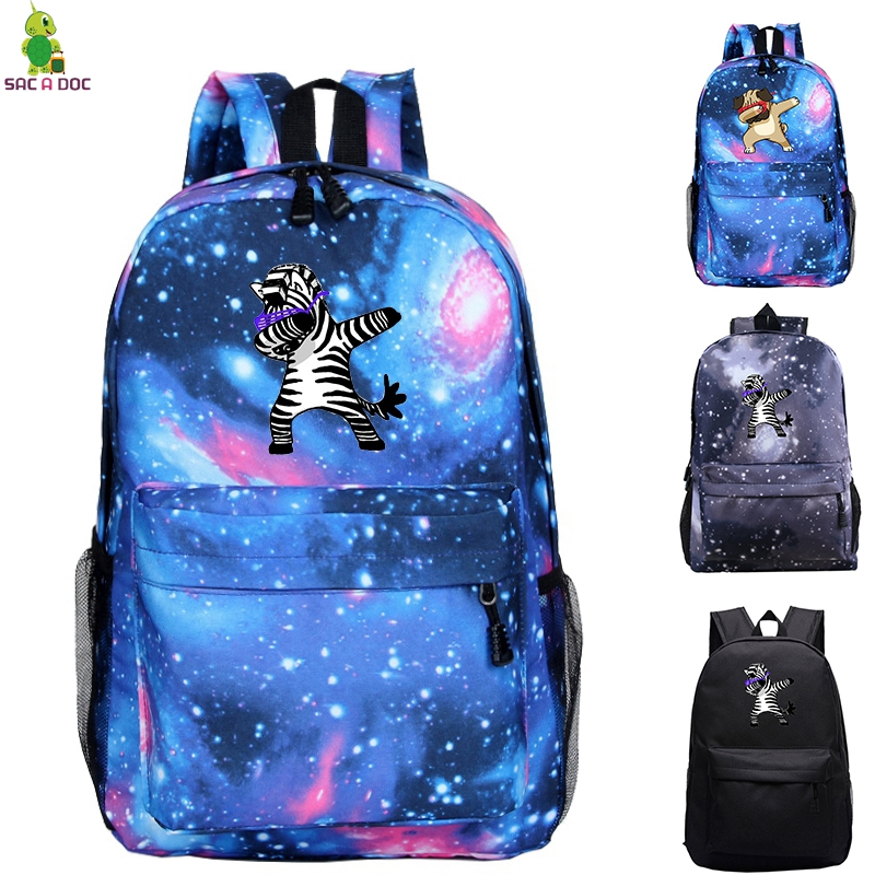 Dab Zebra / Pug Backpacks Men Funny Shool Bag Dabbing Pug Bagpack Hip Hop Backpack Galaxy Mochila Cute Latop/travel BackpackDab Zebra / Pug Backpacks Men Funny Shool Bag Dabbing Pug Bagpack Hip Hop Backpack Galaxy Mochila Cute Latop/travel Backpack