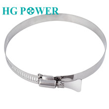 1Pcs 4'' 100mm Anti-oxidation Stainless Steel Adjustable Drive Hose Clamp Fuel Line Worm Size Clip Hoop Hose Clamp for Tube Pipe pipe clamps hose clips stainless steel jubilee type durable silver durable anti oxidation corrosion resistant powerful torque
