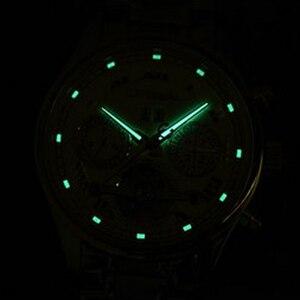 Image 4 - קרנבל tourbillon חם אוטומטי מכאני מותג גברים של שעונים אופנה צבא ספורט עמיד למים שעון זוהר יוקרה מלא פלדה