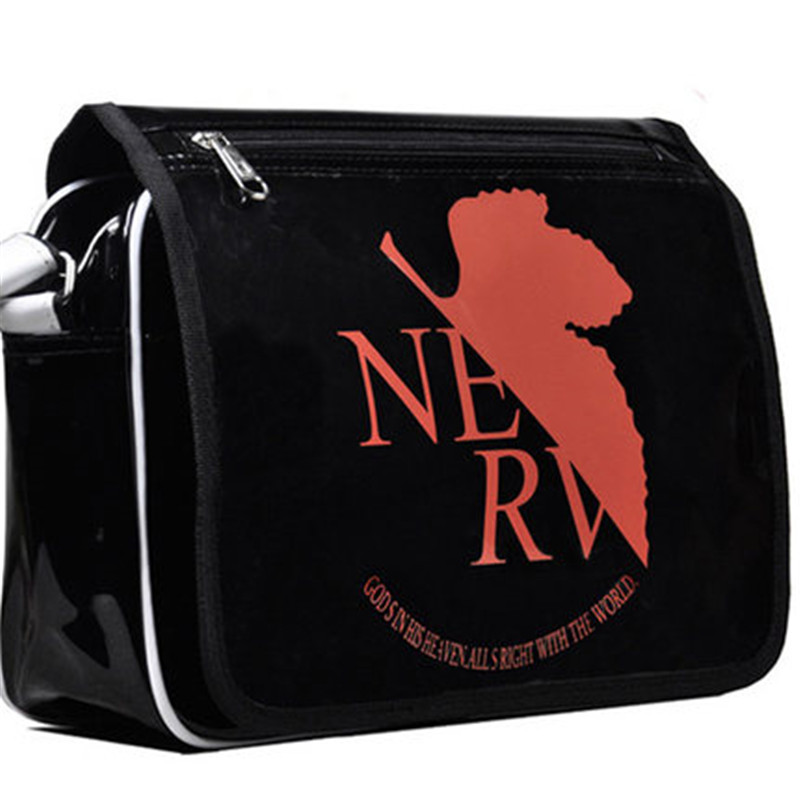 NEW Style Neon Genesis Evangelion EVA Anime Patent Leather Shoulder Bag Cartoon COS Messenger Crossbody Bags hot japanese cartoon anime wallet eva neon genesis evangelion student purse short billfold for young man cool gift choose