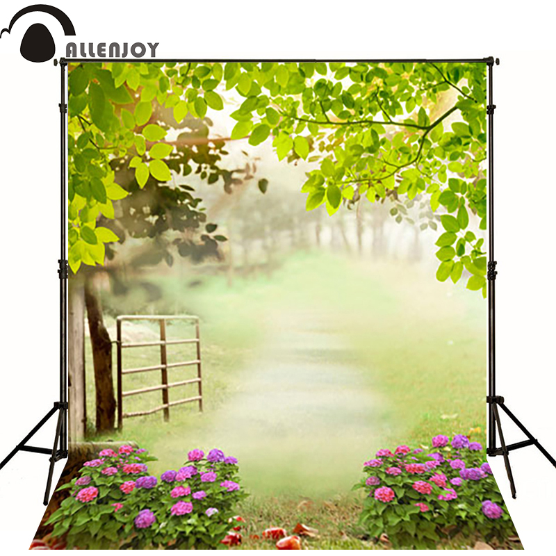 10*20feet(300*600CM) photography background spring fotografia Plant flowers railing photography backdrops
