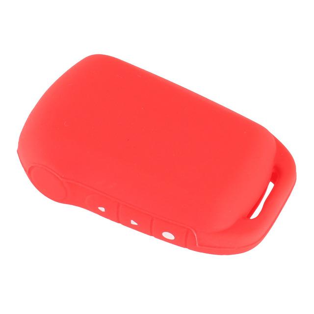 KEYYOU Silicone Key Case Tamarack For Russian Two Way Car Alarm LCD Remote Control Keychain For Starline A92/A94/V62/A62/A64
