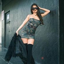 Summer Dresses 2019 New Women Sexy Camouflage Sleeveless Square Collar Skinny Strap Mini Dress