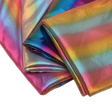150cm*100cm Gradient Rainbow Laser Gilding Cloth Performance Clothing Stage Decorative Background Color Holographic Knit Fabric