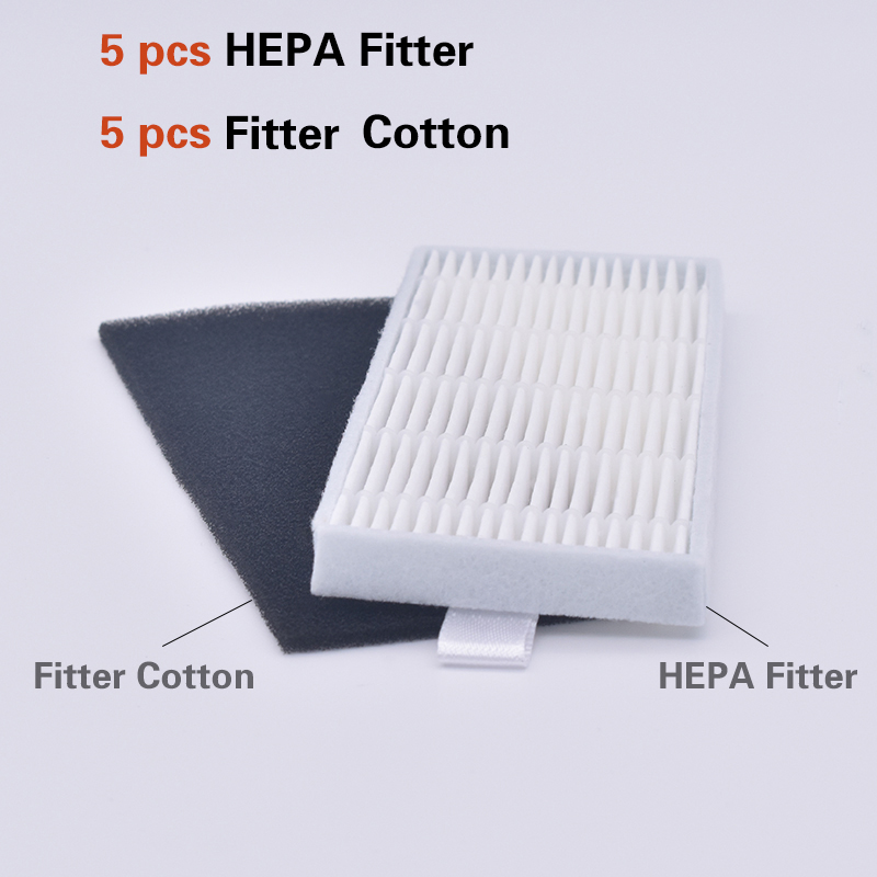 5set Of HEPA Filter Filter Cotton For New Products Ilife A4s A6 A4 A40 /Ecovas DN621 X620 Robot Replacement Filter Vacuum