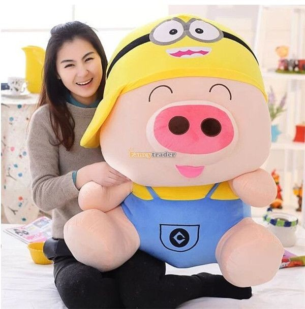 Fancytrader 37\'\' 95cm Super Lovely Soft PlusH Stuffed Giant McDull Pig, 3 Cartoon Models, Free Shipping FT50732 (10)
