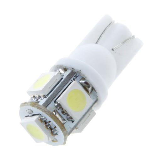 Фотография 10x)  50PCS T10 5 White 5050 LED Car Side Light Lamp