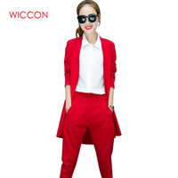 New Autumn Fashion Style Elegant Women Pants Suits Women Business Suits Formal OL Office Suits Work Blazer+Trouser Suit Feminino