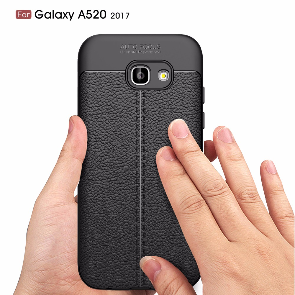 Galleria fotografica Ultra Thin Soft Silicone Carbon Fiber Leather Case for Samsung Galaxy A5 2017 Cover Coque for Samsung Galaxy A5 2017 Case Armor