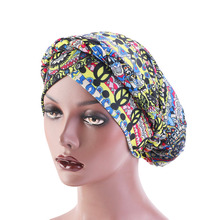 New African Style braided turban dreadlock hat Bandanas Headwear Cap Muslim Turban Hair Accessories Fashion Ladies Chemo Cap new fashion baby vintage double flower beanie turban style hat children chemo cap muslim turban headbands kids hair accessories