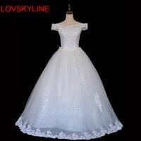 Slim Slit Neckline Lace Backless Flower Princess Bride Bandage Wedding Formal Dress 2015