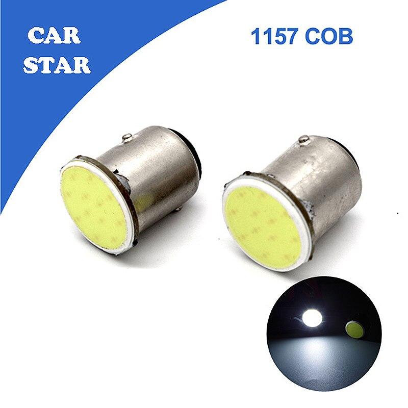 2X Big Promotion Car LED 12 Chips COB 1157 P21/5W BAY15D 3W Auto Brake Lights White Reverse lights Free Shipping