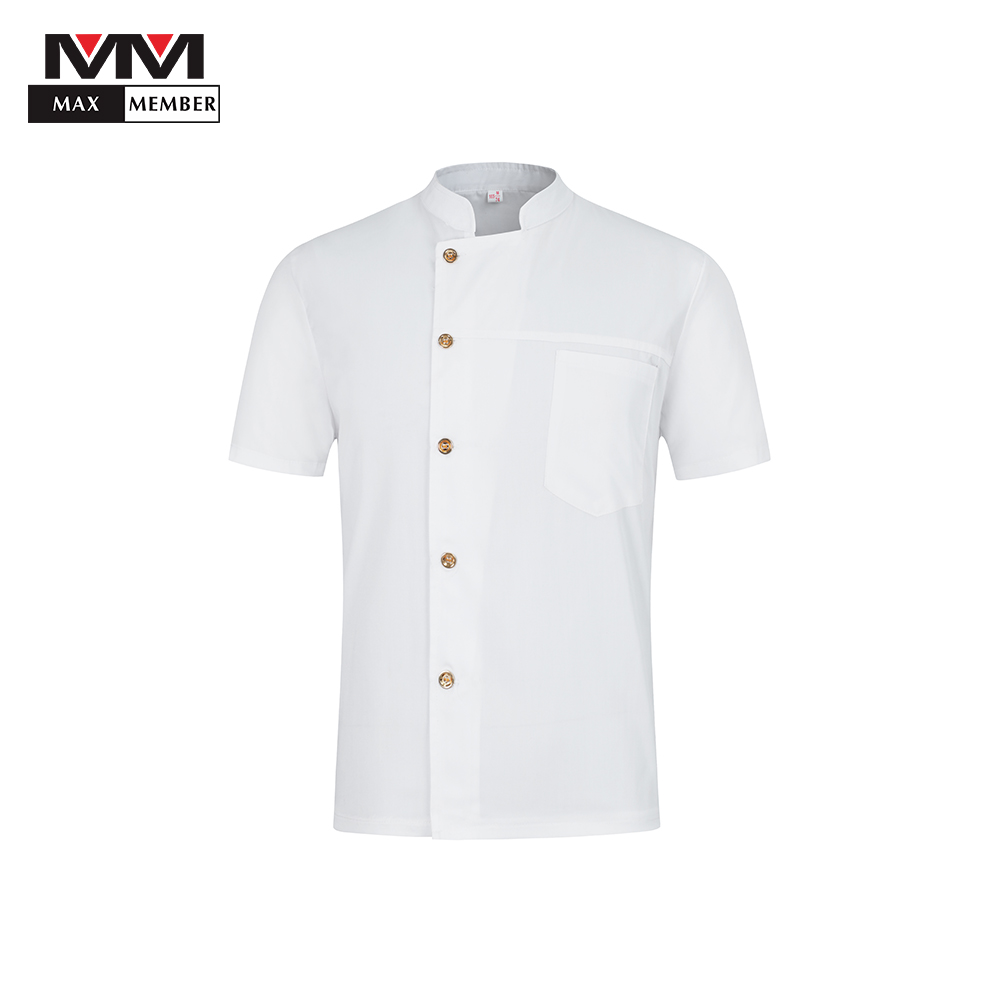 2019 New Summer Men's Short-sleeved Breathable Chef Jacket Restaurant Hotel Cook Suit Man Woman Work Wear Food Service Uniform