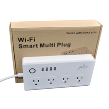 works with Amazon echo Alexa wifi multi plug US wifi power socket plug outlet smart phone