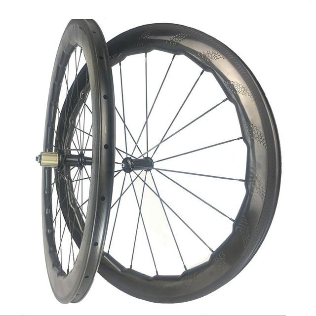 a5ed88216 NSW 454 Dimple Carbon Wheels Rim 58mm   53mm 700C Carbon Road Bike Wheelset  Clincher Tubeless Compatible Tubular Rim