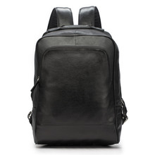 Men's Backpack Business-Bag Genuine-Leather School-Bags Travel Laptop Large-Capacity