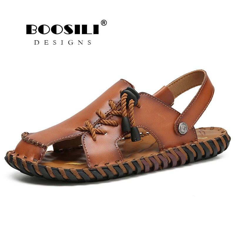 100% Wahr Zapatillas Hombre Verkauf Sapato Feminino Herren Leder Sandale 2019 Neue Männer Atmungs Sandalen Freizeit Schuhe Hohe Qualität