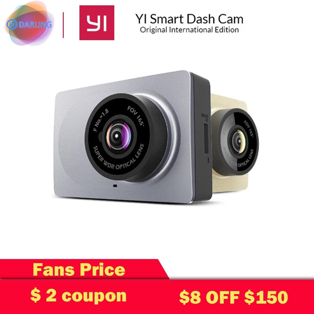 International Edition Xiaomi YI Smart Car DVR 165 Degree 2 7 Dash font b Camera