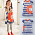 New 2017 Baby Girls Dresses Fashion Girls Clothes Summer Girls Clothing Dress 2-6Yrs Children Dress Stripe Clothes