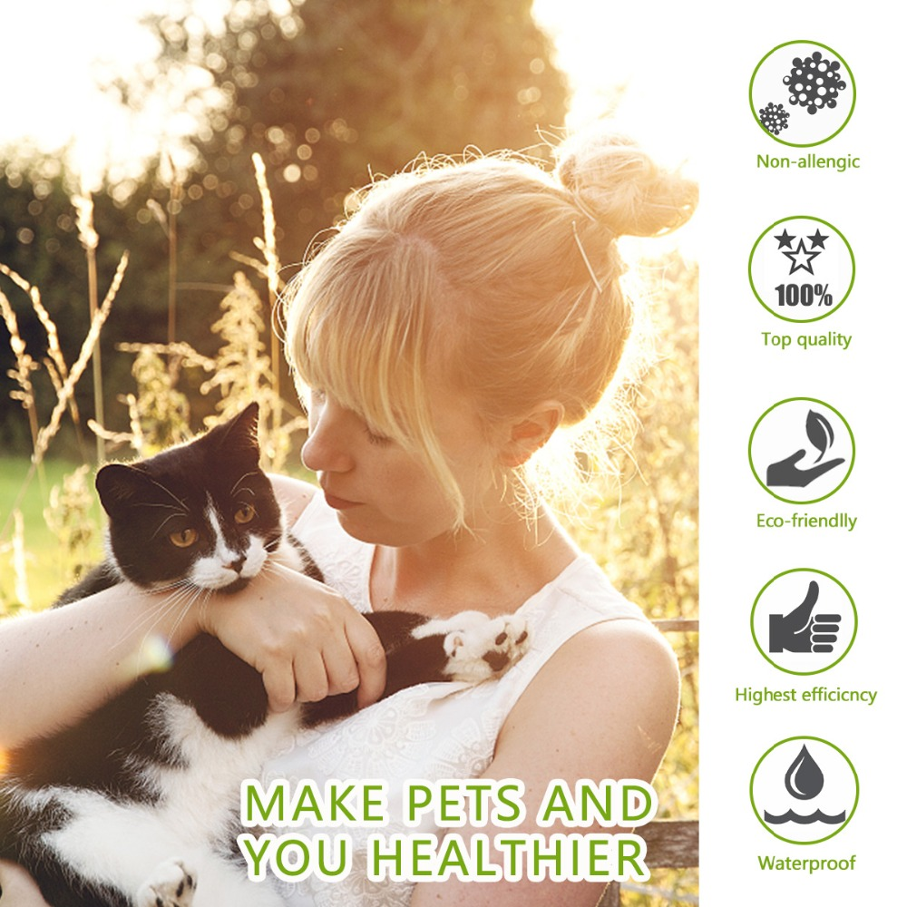 Dewel Cat Dog Collar Anti Flea Ticks Mosquitoes Outdoor Protective Adjustable PET Collar 8 Months Long-term Protection 11