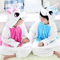 Super Macio Pijama de Flanela Animal Dos Desenhos Animados das Crianças para Meninos Meninas Pijamas unicórnio rosa pyjamas animal pijama geral