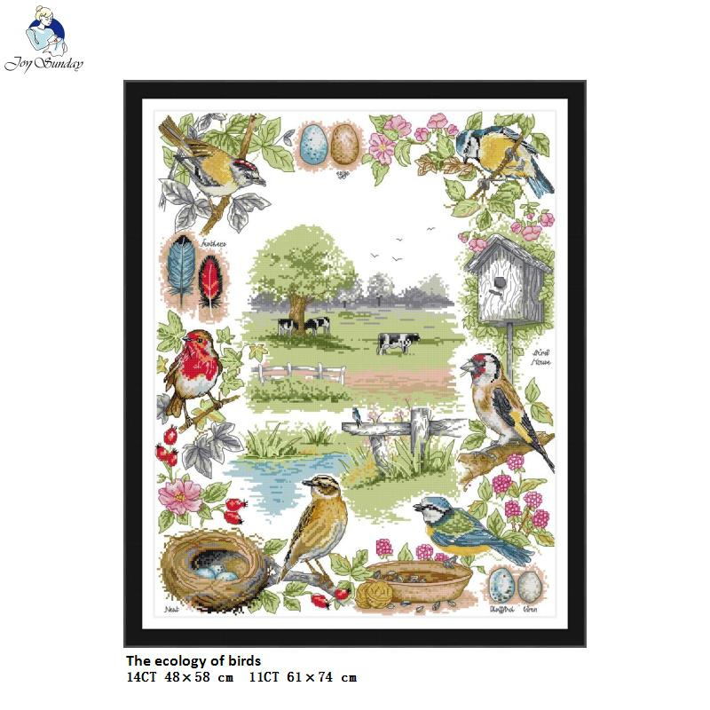 11ct Print Fabric Joyautum Two Little Polar Bears Home Decoration Painting Chinese Counted Cross Stitch Pattern DIY Fabric 11CT 14CT Printed On Canvas Embroidery