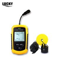 Portable Sonar Sensor Fish Finder Alarm Transducer Fishfinder 100M AP Ice Fishing Equipment Depth Sounder