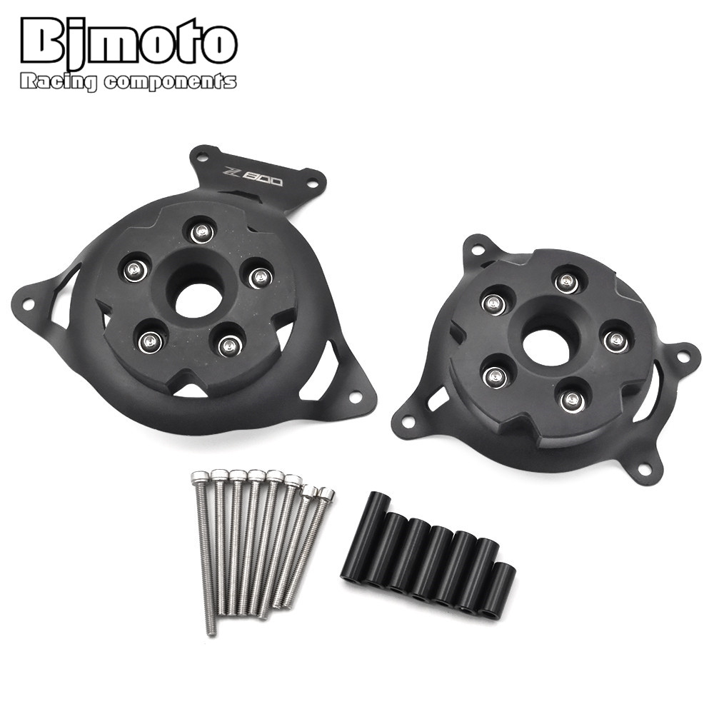 BJMOTO Motorcycle Engine Stator Cover Engine Protective Cover Left & Right Side Protector For KAWASAKI  Z800 2013 2014 2015 2016 new products motorcycle engine protective protect cover stator engine covers for kawasaki zx10r 2011 2012 2013 2014 2015 2016