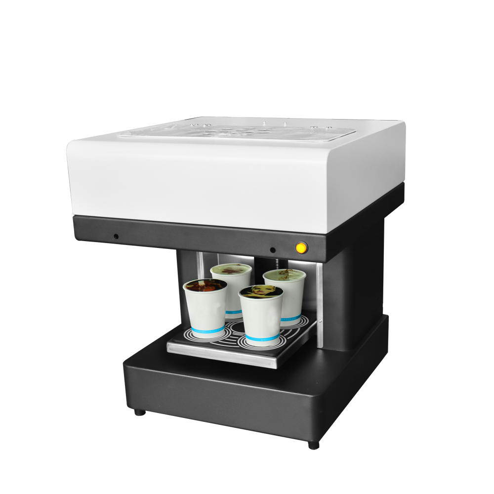 все цены на 4 cups Coffee Printer Art Cake Pizza Bread Milk Biscuit Pizza Food Printer Automatically Print Machine онлайн