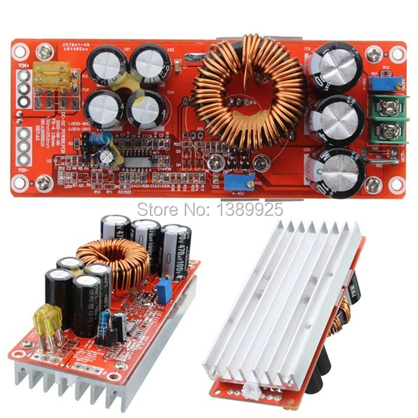 1200W 20A DC Converter Boost Power Supply Module 8-60V 12v Step-up12-83V 24v 48v free shipping1200W 20A DC Converter Boost Power Supply Module 8-60V 12v Step-up12-83V 24v 48v free shipping