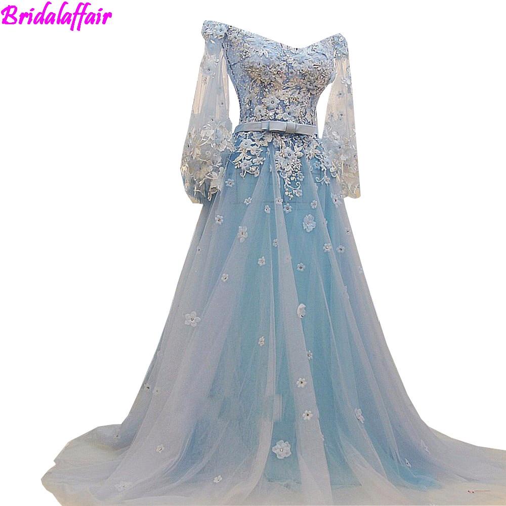 US $183.92 20% OFF|Princess Light Blue Wedding Gowns Flowers Lace Bridal  Dresses 2018 Vestido de Noiva Plus Size Wedding Dress vestido branco-in ...