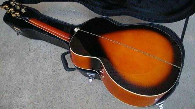 left hand Acoustic Guitar Vintage Sunburst Acoustic Electric Guitar Factory customization 4