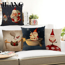 Santa Claus Cushion Cover Merry Christmas 45x45cm Pillow Cases Happy New Year Gift Bedroom Sofa Decorations For Home
