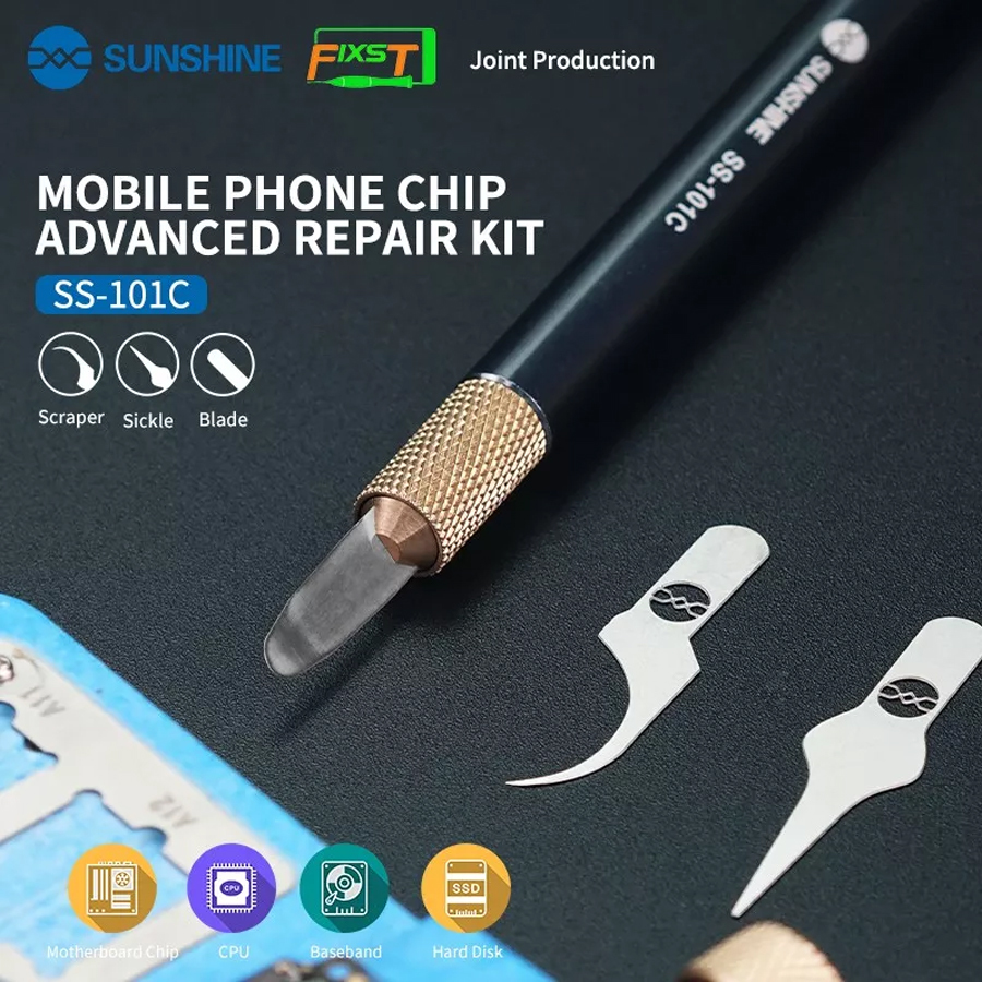 Sunshine Multifunctioal Cpu Ic Glue Remover Knife Thin Blade Motherboard Bga Chip Glue Cleaning Scraping Pry