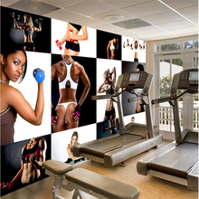 beibehang Wallpaper mural custom any size photo hd fitness bodybuilding beauty handsome photo wall tooling background wall