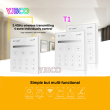 Milight T1 AC220V 4-Zone Brightness Dimming Smart Panel Remote Controller led dimmer for led strip lighting tape bulbs lamps