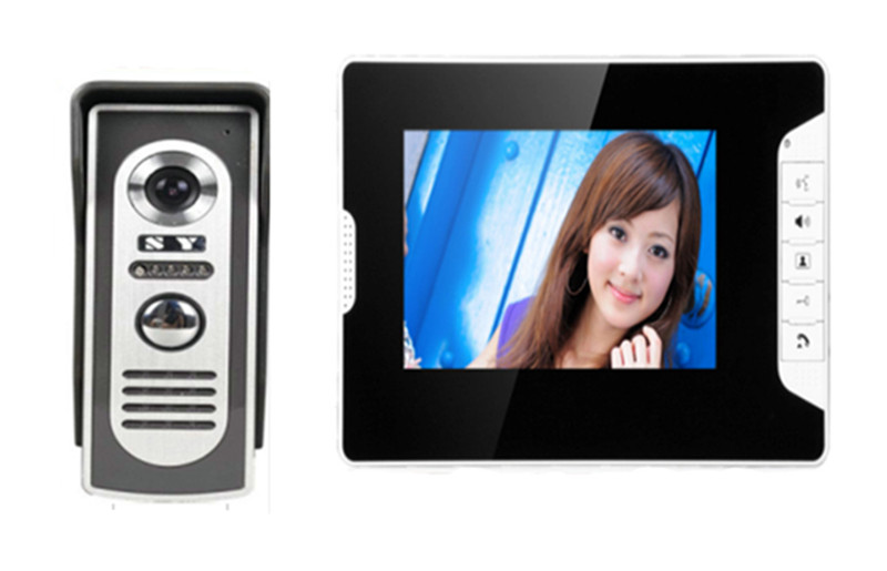 7 Inch TFT Monitor Wired Intercom Video Door Phone 813-M
