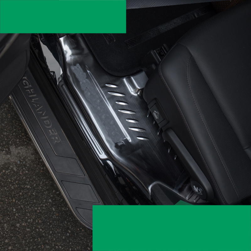 Lsrtw2017 Acero inoxidable puerta del coche sill Threshold bar para toyota highlander 2013 2014 2015 2016 2017 2018 2019 3rd generación
