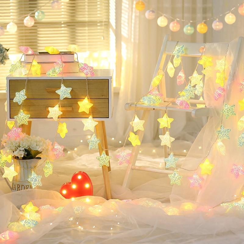 Cute Star shaped Fairy Lights Novelty LED Lights ...